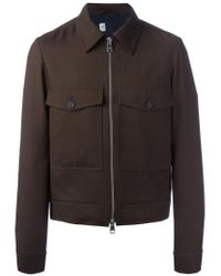 AMI - Brown Zipped Jacket for Men - Lyst