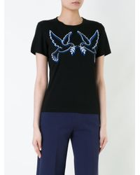 Mary Katrantzou - Black Ven Dove T-shirt - Lyst