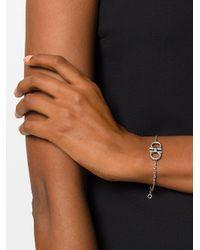 Ferragamo - Metallic Double Gancio Bracelet - Lyst