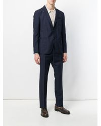 Ferragamo - Blue Striped Single-breasted Suit for Men - Lyst