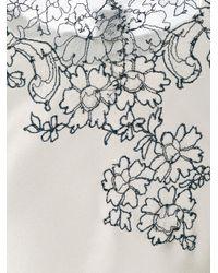 Carine Gilson - White Décolleté V-neck Top - Lyst