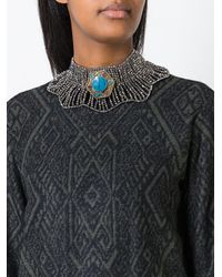 Night Market - Metallic Choker Necklace - Lyst