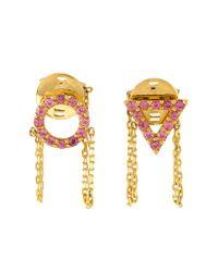Eshvi | Pink 'june' Earrings | Lyst