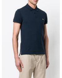 Etro - Blue Short Sleeve Polo Shirt for Men - Lyst
