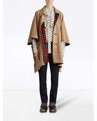 Burberry - Natural Tartan-lined Tropical Cape - Lyst