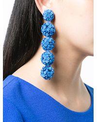 Sachin & Babi - Blue Fleur Bouquet Earrings - Lyst