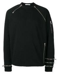 Givenchy | Black Zip Panel Sweatshirt for Men | Lyst