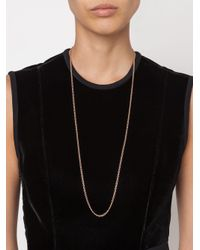 Irene Neuwirth - Pink 18kt Rose Gold Oval Chain Necklace - Lyst