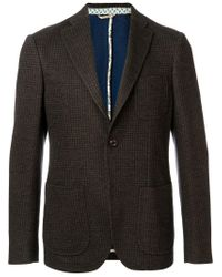 Etro | Brown Houndstooth Pattern Blazer for Men | Lyst