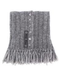 Miu Miu - Gray Tassel Knitted Collar - Lyst