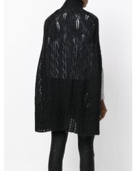 McQ Alexander McQueen - Black Knitted Cape - Lyst