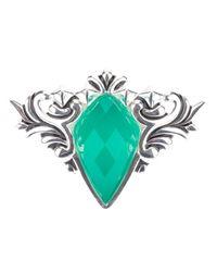 Stephen Webster - Green 'superstud' Baroque Spike Crystal Haze Ring - Lyst