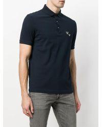 Emporio Armani - Blue Appliquéd Polo Shirt for Men - Lyst