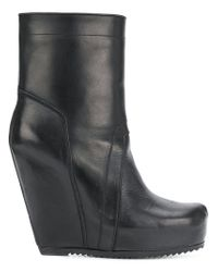 Rick Owens - Black Wedge Boots - Lyst