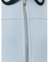 Prada - Blue - Flap Pockets Zipped Coat - Women - Viscose/wool - 44 - Lyst