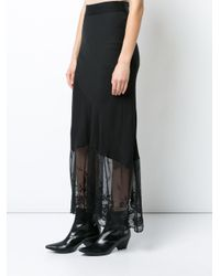 Ann Demeulemeester - Black Lace Embellished Skirt - Lyst