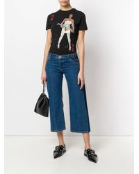 Vivienne Westwood Anglomania - Black Printed T-shirt - Lyst