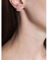 Yvonne Léon - Metallic Yvonne Léon 18k Gold And White Diamond Stud Earring - Lyst