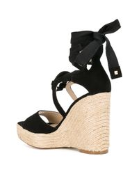 Paloma Barceló - Black Fay Wedged Sandals - Lyst
