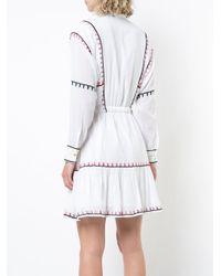 Carolina K - White Embroidered Shirt Dress - Lyst