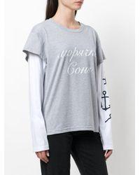 Natasha Zinko Gray Layered Sleeve T-shirt