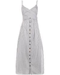 Mara Hoffman - Black Striped Dress - Lyst