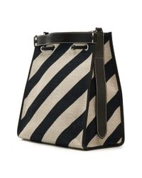 J.W. Anderson - Black Striped Drawstring Bucket Bag - Lyst