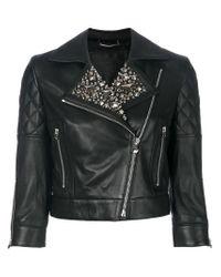 Philipp Plein - Black Studded Biker Jacket - Lyst
