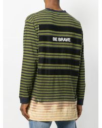 DIESEL - Green Be Brave Striped Top for Men - Lyst