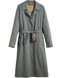 Burberry - Blue Trench Coat - Lyst