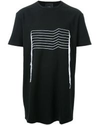 Thamanyah - Black Embroidered T-shirt for Men - Lyst