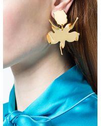 Lele Sadoughi - Metallic Flower Silhouette Drop Earrings - Lyst
