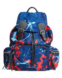 Burberry - Blue Large Rucksack Backpack - Lyst