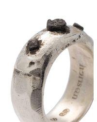 Henson - Metallic Cube Ridge Ring - Lyst