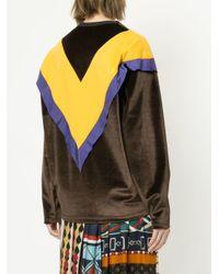Kolor - Brown Colour Block Sweatshirt - Lyst