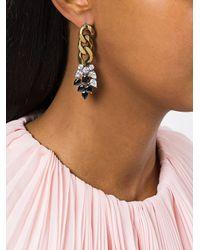 Iosselliani - Metallic Optical Memento Earrings - Lyst