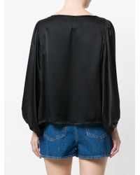 Diega - Black Bishop Sleeve Blouse - Lyst