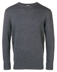 Aspesi - Gray Round Neck Jumper for Men - Lyst
