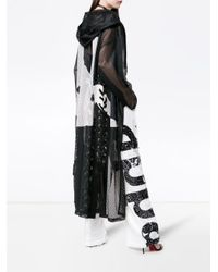 Faith Connexion - Black X Kappa Logo Print Hooded Mesh Coat - Lyst