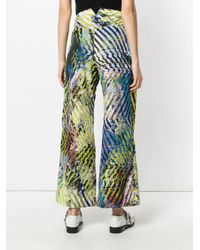 Issey Miyake - Multicolor Printed Wide-leg Trousers - Lyst