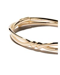David Yurman - Metallic 18kt Yellow Gold Continuance Center Twist Bangle - Lyst