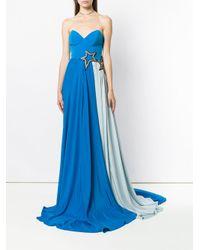 Francesco Paolo Salerno - Blue Star Embellished Evening Dress - Lyst