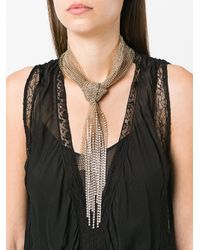 Lanvin - Metallic Crystal Chain Knot Necklace - Lyst