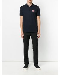 Lanvin - Blue Patch Polo Shirt for Men - Lyst