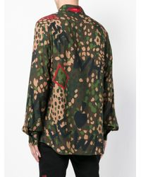 Vivienne Westwood - Green Camouflage Print Shirt for Men - Lyst