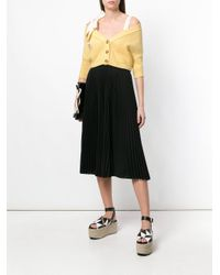 RED Valentino - Multicolor Off-shoulder Cropped Cardigan - Lyst