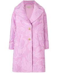 Emilio Pucci - Pink Jacquard Coat - Lyst
