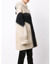 Prabal Gurung - Multicolor Studded Shearling Coat - Lyst
