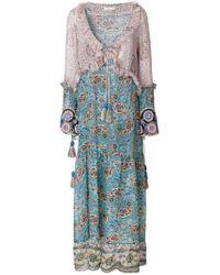 Anjuna - Blue Bohemian Ciclade Maxi Dress - Lyst
