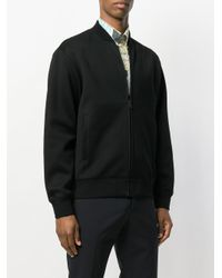 Prada - Black Bomber Sweatshirt for Men - Lyst